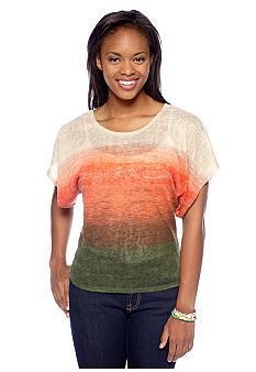 A Byer Light Weight Ombre Knit Top