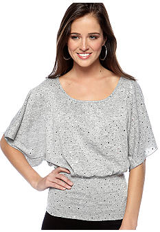 A Byer Sequin Top with Lace Back