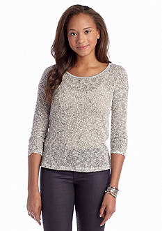 A Byer Knit to Woven Top