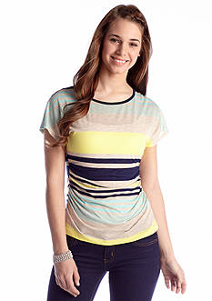A Byer Shirred Stripe Top