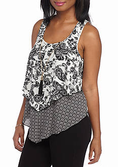 A. Byer Twin Printed Pop Over Tank