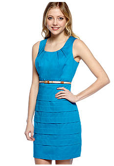 A Byer Sleeveless Band Bottom Sheath Dress