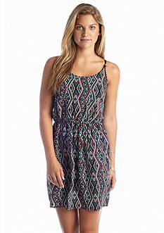 A Byer Tribal Printed Bar Back Dress