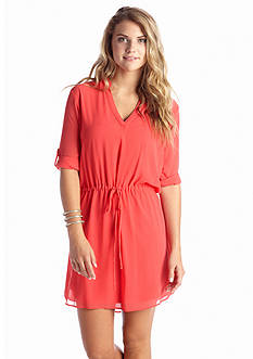 A Byer Drawstring Waist Dress