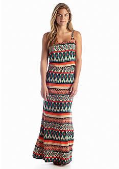 A Byer Tribal Printed Maxi Dress