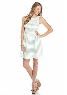 A. Byer Striped Fit And Flare Dress