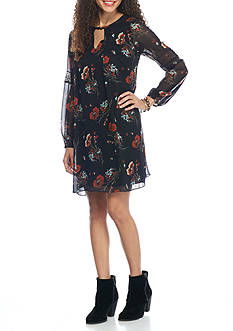 A. Byer Printed Necklace Shift Dress
