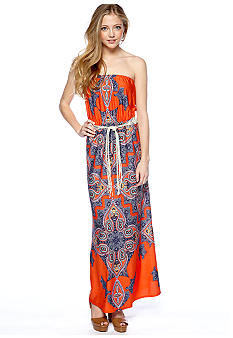 A Byer Paisley Knit Maxi Dress
