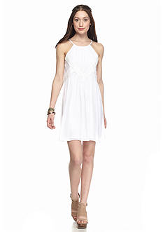 A. Byer Solid Halter Dress