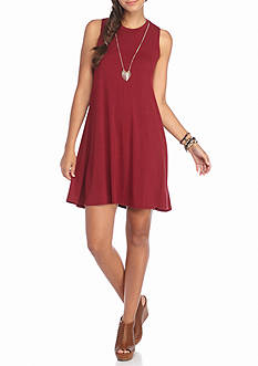 A. Byer Sleeveless Sheath Necklace Dress