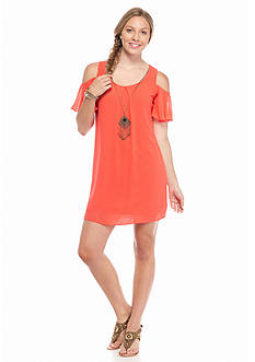 A. Byer Cold Shoulder Necklace Dress
