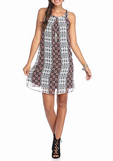 Byer California Mix Print Sheath Dress