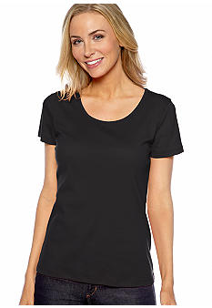 Jones New York Sport Plus Size Scoop Neck Tee
