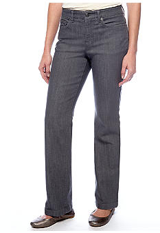 Jones New York Sport Plus Size Straight Leg Graphite Jean