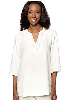 Jones New York Sport Petite Embellished Neckline Tunic