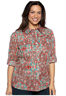 Jones New York Sport Plus Size Camp Shirt