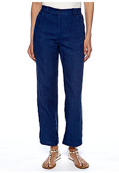 Jones New York Sport Petite Linen Crop Pant