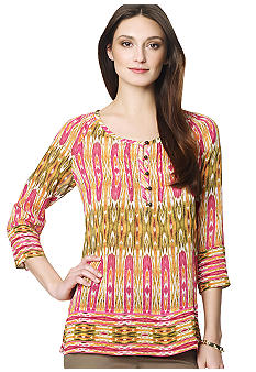 Jones New York Sport Mixed Print Blouse