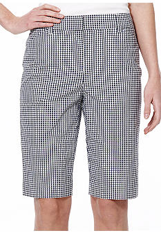 Jones New York Sport Gingham Bermuda Short