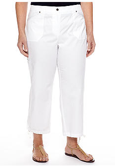 Jones New York Sport Plus Size Crop Cargo Pant