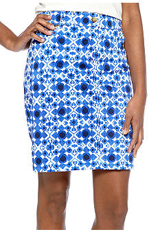 Jones New York Sport Printed Slim Skirt
