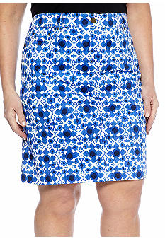 Jones New York Sport Plus Size Slim Jean Skirt
