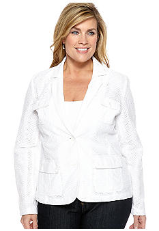 Jones New York Sport Plus Size All Over Lace Jacket
