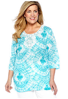 Jones New York Sport Plus Size Scoop Neck Tunic Top
