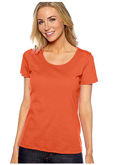 Jones New York Sport Short Sleeve Scoop Neck Tee