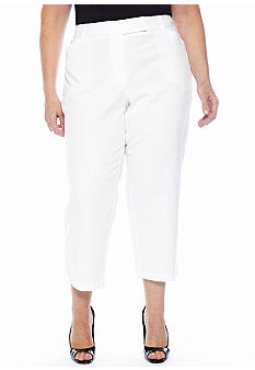 Jones New York Sport Plus Size Extended Tab Crop Pant