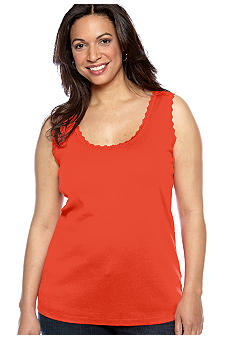 Jones New York Sport Plus Size Lace Tank