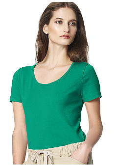 Jones New York Sport Solid Scoop Neck Tee