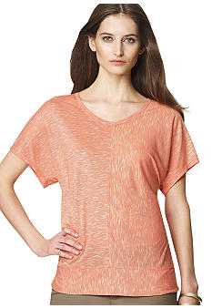 Jones New York Sport Drop Shoulder Scoop Neck Tee