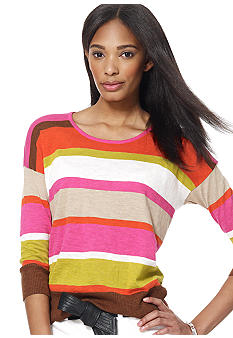Jones New York Sport Three Quarter Sleeve Scoop Neck Top