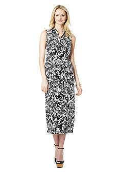 Jones New York Sport Sleeveless Maxi Shirt Dress