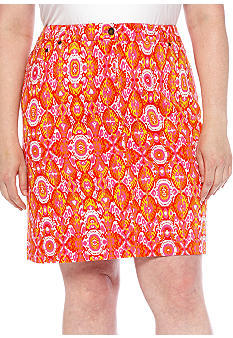 Jones New York Sport Plus Printed Skirt