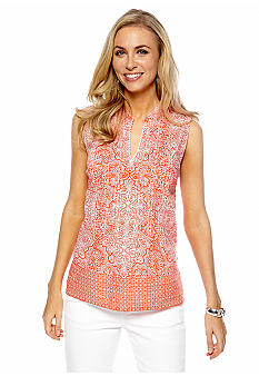 Jones New York Sport Petite Sleeveless Print Tunic