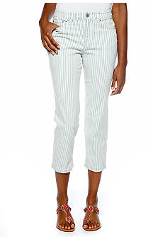 Jones New York Sport Crop Striped Jean