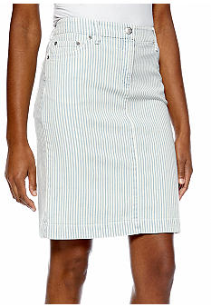 Jones New York Sport Slim Stripe Skirt