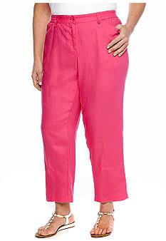 Jones New York Sport Plus Size Crop Pant With Elastic Side Insets