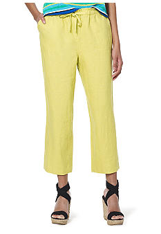 Jones New York Sport Petite Crop Linen Pant