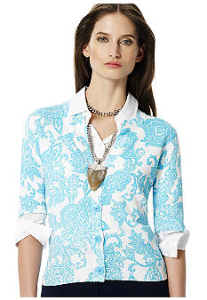 Jones New York Sport Paisley Spring Cardigan