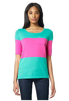 Jones New York Sport Color Block Sweater