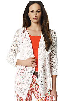 Jones New York Sport Drape Front Cardigan