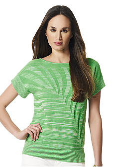 Jones New York Sport Leaf Print Top
