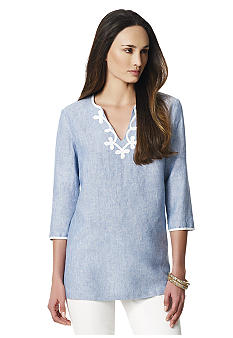 Jones New York Sport Chambray Linen Tunic