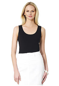 Jones New York Sport Petite Scoop Neck Tank