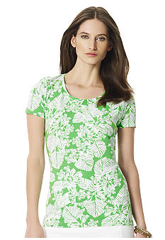 Jones New York Sport Petite Scoop Neck Tee
