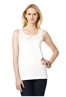 Jones New York Sport Embellished Tank Top