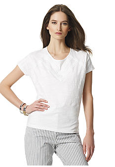Jones New York Sport Petite Dolman White Tee